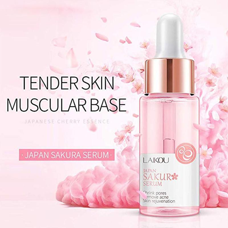 24K Gold Vitamin C Serum Whitening Hyaluronic Acid+New Makeup Base Whitening Essence Cherry Primer Makeup Face Care Anti Wrinkle