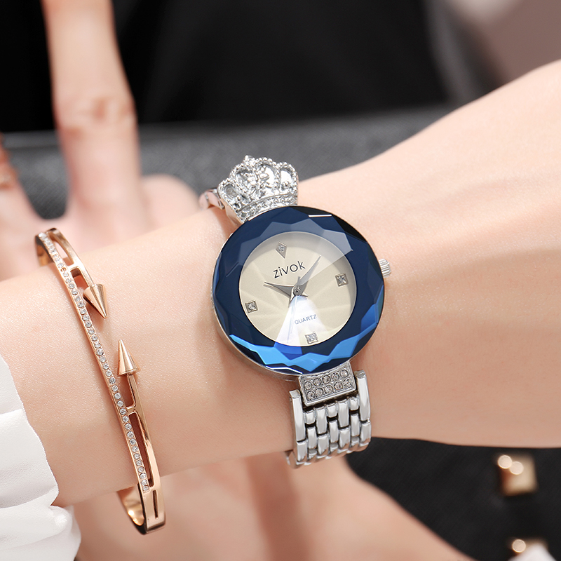 Top Brand zivok Luxury Women Watches Relogio Feminino Silver Fashion Quartz Lovers Wrist Watch Clock Women Bracelet Wristwatches rigardu fashion female wrist watch lovers gift leather band alloy case wristwatch women lady quartz watch relogio feminino 25