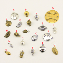 20Pcs Wholesale Supplies For Jewelry Materials 3D Volleyball Creative Handmade Birthday Gifts Charms Making HK115