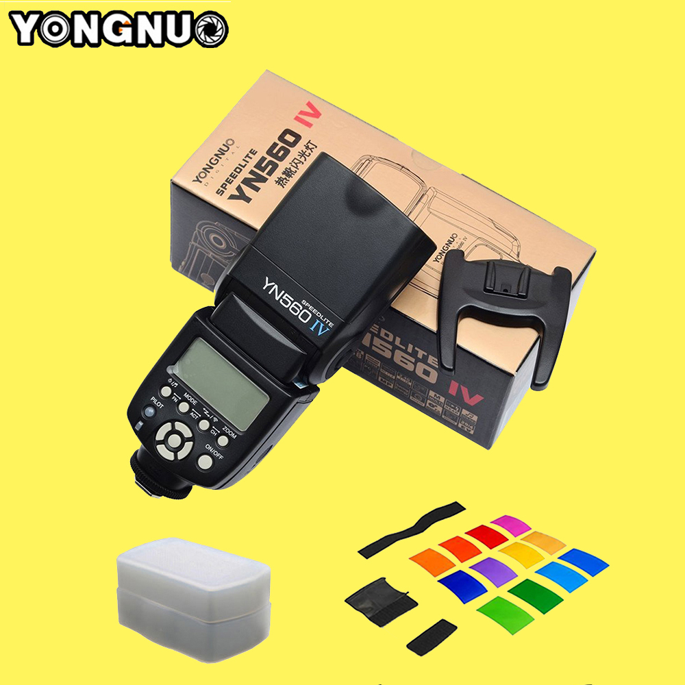 Yongnuo YN560 IV YN560IV Wireless Master Slave Flash Speedlite for Canon Nikon Pentax Olympus Fujifilm Panasonic DSLR Cameras yongnuo yn560 iv yn560iv wireless master radio flash speedlite 2pcs rf 605c rf605 lcd wireless trigger for canon dslr cameras