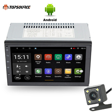 TOPSOURCE  7003 2 Din 7'' Car Radio Player Android 1G/16G  GPS Navigation Bluetooth  Car MP5 Player  Rear View Camera WiFi 2 din 7inch car gps navigation touch screen 1g 16g android 8 1 mp5 player bluetooth wifi fm radio dual usb