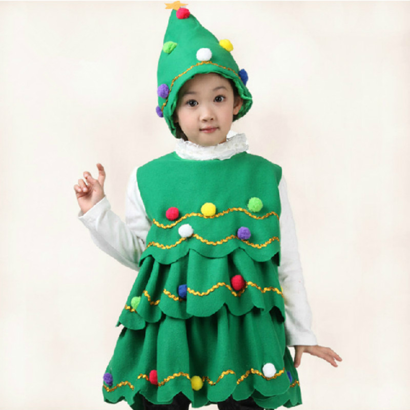 Christmas Tree Hat.Us 15 85 24 Off Baby Christmas Costumes Suits With Hat For Boys Girls Kids Christmas Tree Santa Cosplay Children Dress Up Cotton Christmas Gift In