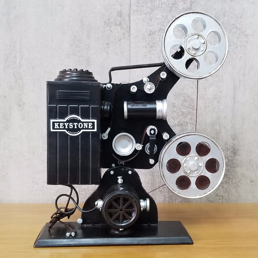 Antique classical projector model retro vintage wrought handmade metal crafts for home/pub/cafe decoration or birthday gift