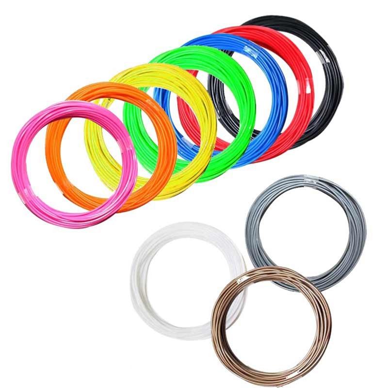 10 M 1.75mm 3d Printer Abs Filament Modellering Stereoscopische Voor 3d Tekening Printer Pen Plastic Rubber Magic Print Aantrekkelijke Mode
