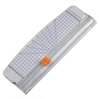 JIELISI 12 A4 Paper Cutter Trimmer White With Multi Function Automatic Security Safeguard When Cutting