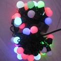5M 50LEDS LED Ball Holiday Christmas fairy lights led Changing with Linkable Ball String Christmas Xmas Lights