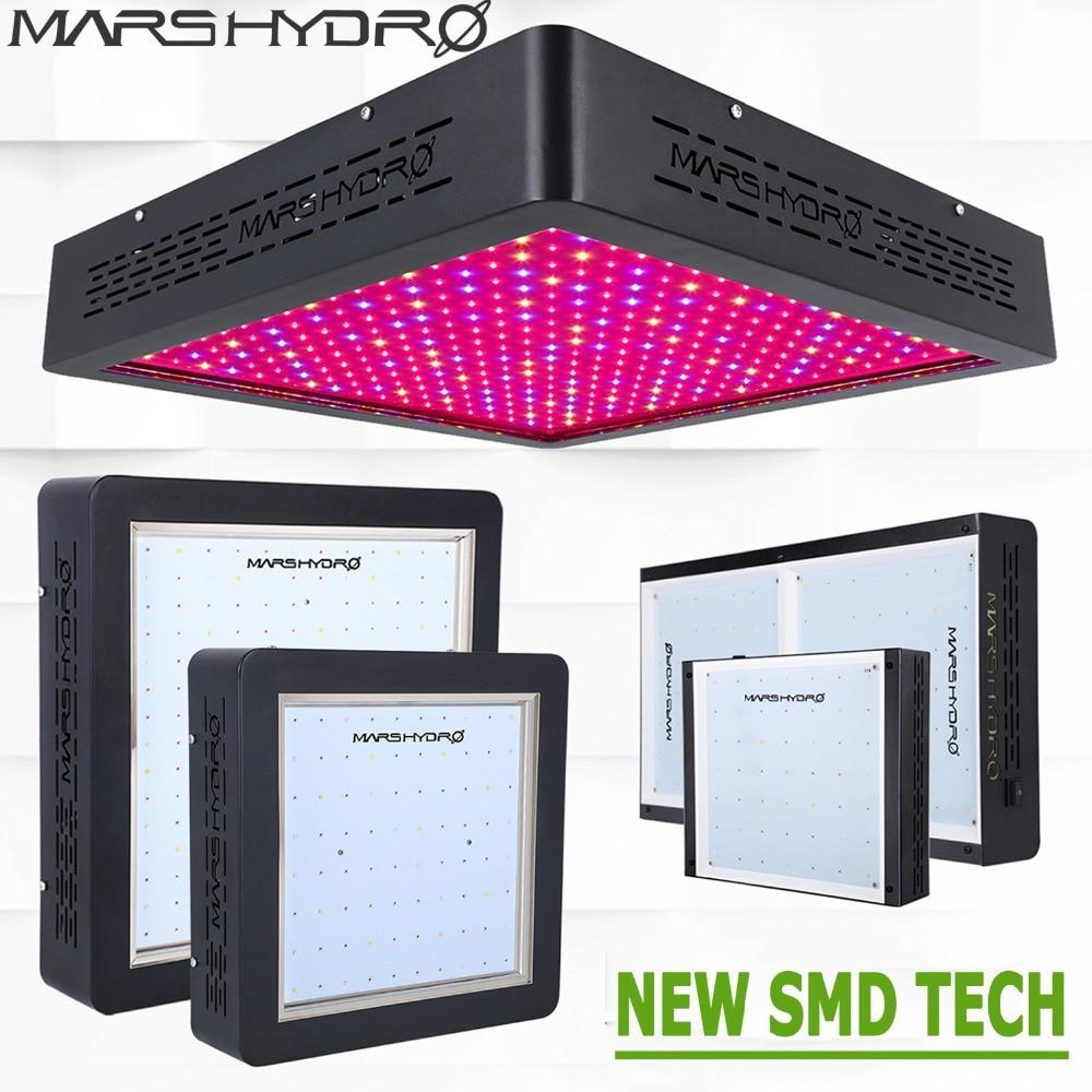 Mars Hydro 300 W 400 W 600 W 900 W 1600 W LED à spectre complet élèvent des lumières croissant la lampe les plantes d'intérieur semant poussent et fleurissent l'éclairage