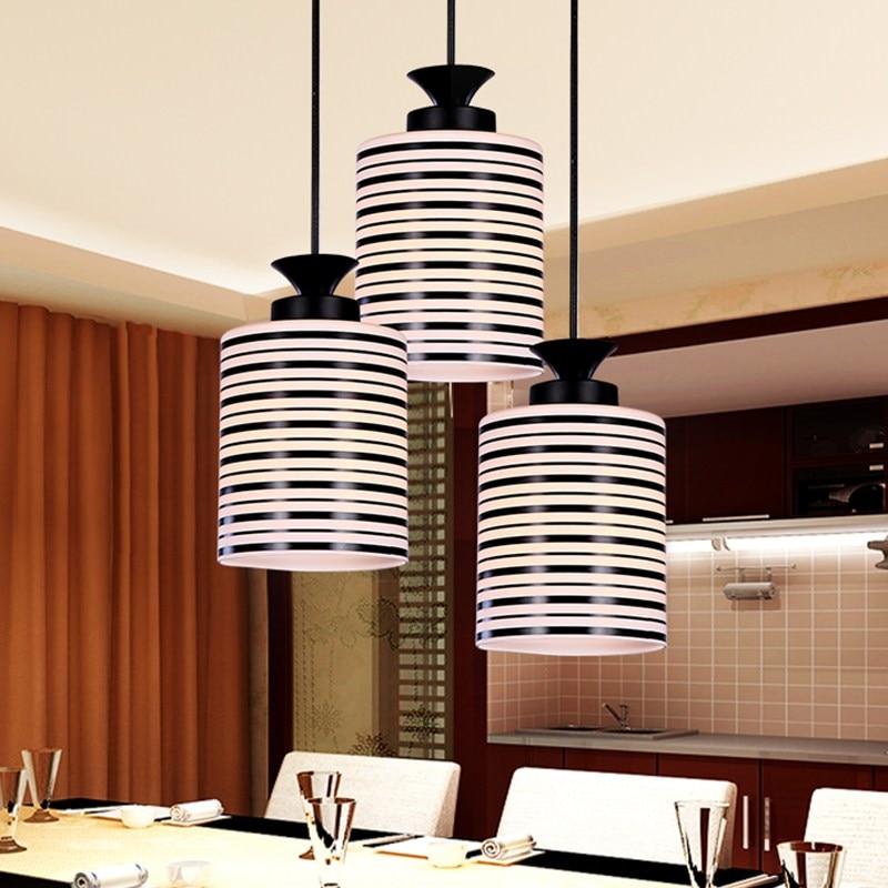 Restaurant Pendant Light modern simple dining table restaurant lights LED creative personality fashion single head lamp LU811237