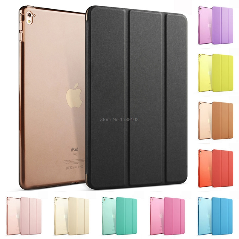 Slim Fit Auto Wake up&Sleep Light Weight PU Leather Trifold Smart Case For iPad Pro 2016 9.7 Translucent Frosted Stand Cover philips wake up light hf3505 70