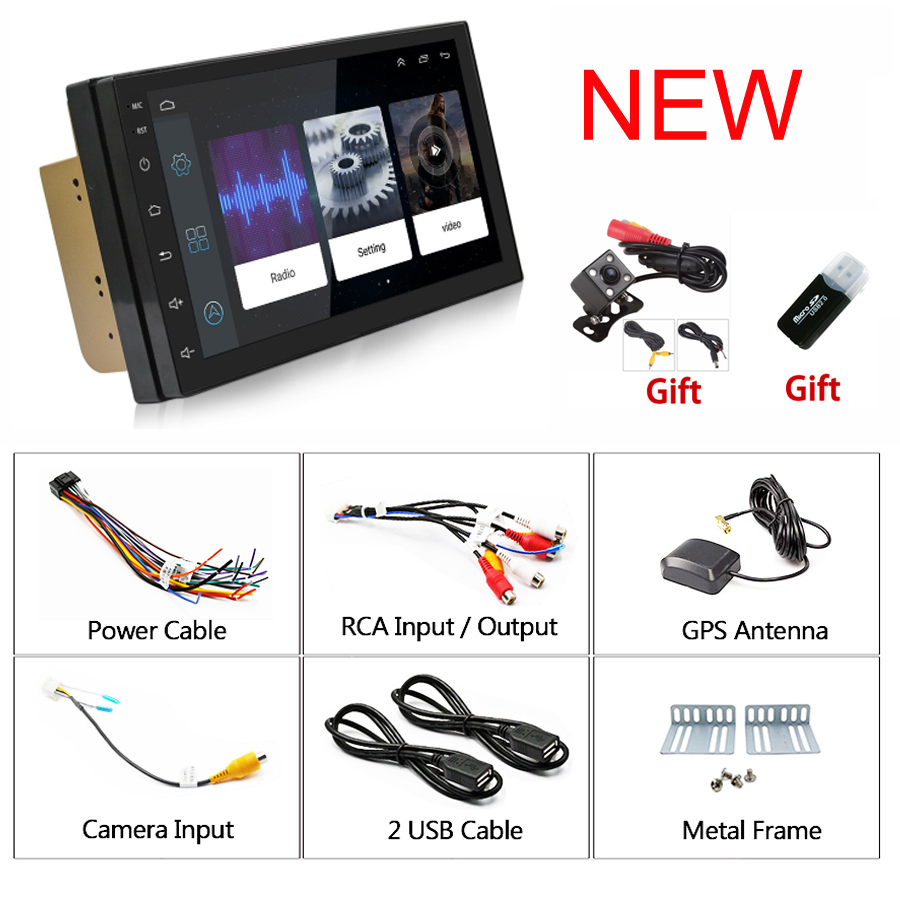 Rhythm 2 din android 6.0 car radio auto bluetooth double din multimedia player universal GPS Navigation 1024*600 support dab