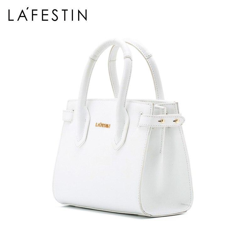 La festin women bag 2019 new simple leather handbag shoulder bag Fashion texture design-in Shoulder Bags from Luggage & Bags    2