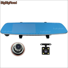 BigBigRoad Car DVR Blue Screen rear view camera video recorder dashcam 5 inch parking monitor G