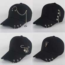 Dad Hat BTS Creative Piercing Ring Baseball Cap Punk Hip Hop
