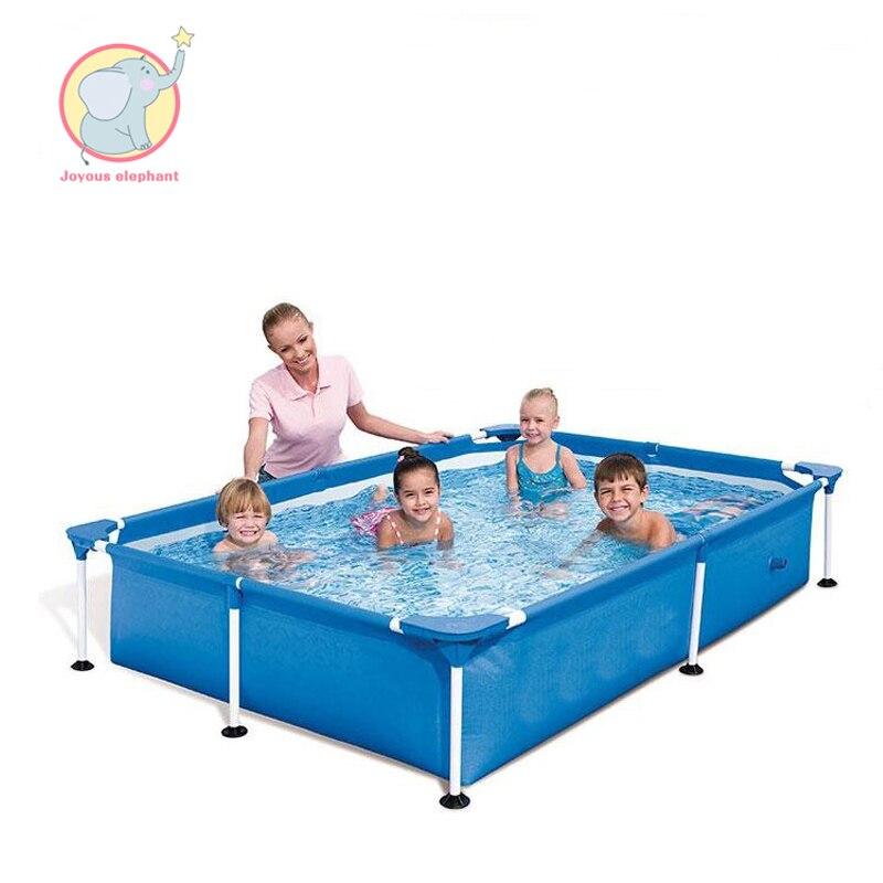 220 cm * 150 m * 60 m Estate blu Gonfiabile rettangolare blocco staffa Piscina per il bambino di età i bambini giardino di famiglia giochi all'aperto
