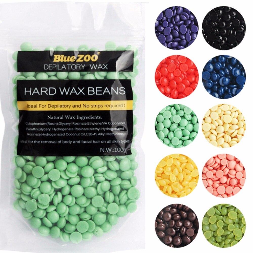 Blue ZOO 2017 New 100g Hot Bikini Hair Removal Depilatory Waxing Granules Pellet Hard Wax Beans 10 Pattern Types