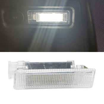 1x LED Luggage Compartment Trunk Boot Lights 12V for VW Caddy Eos Golf Jetta Passat CC Scirocco Sharan Tiguan Touran Touareg T5 20pcs interior door clips for passat b6 cc golf polo caddy tiguan touran eos a6 a8 tt oem 6q0 868 243 6q0868243