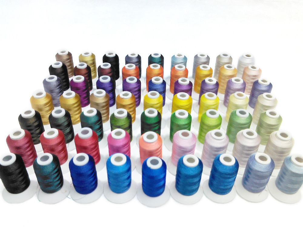 Simthreads 63 Colors Polyester Embroidery Machine Thread Kit for Brother Janome Pfaff Bernina Babylock Singer Husqvarna