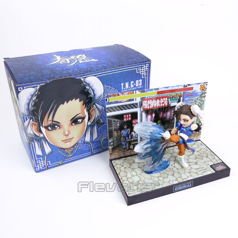 Street Fighter  The New Challenger Chun Li PVC Figure Collectible Model Toy with Light & Sound 15cm Boxed street fighter v chun li bigboystoys with light action figure game toys pvc action figure collection model toys kids for gift