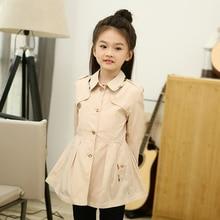 Дизайнерский бренд Детская одежда девушки верхней одежды весна осень пальто Англия стиль опрятный пальто девушка одежда 3 4 5 6 7 8 9 10 лет