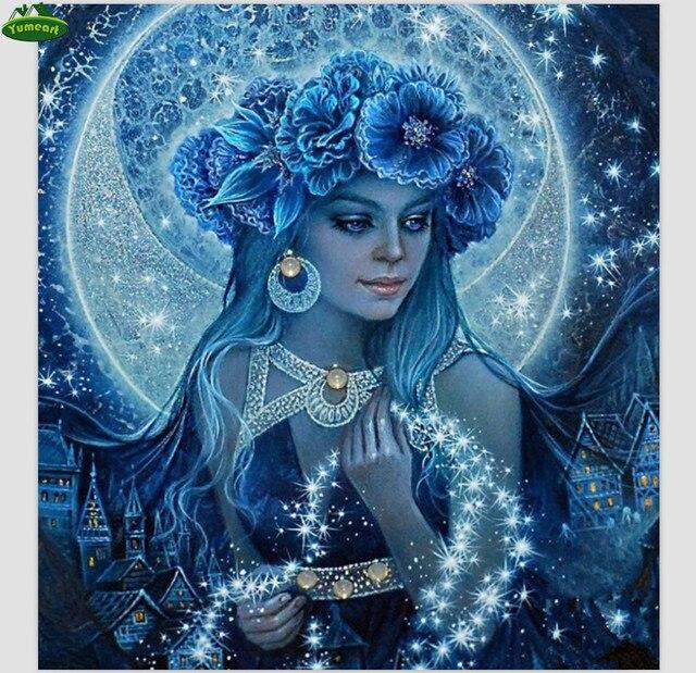 DIY 5D Алмаз Картина Вышивка крестом наборы девушка зима значок алмазы вышивка кристаллы Home Decor Алмазная мозаика картина