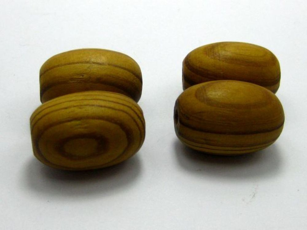 20 Natural Pattern Big Oval Wood Beads~ Wooden Beads 20X28mm