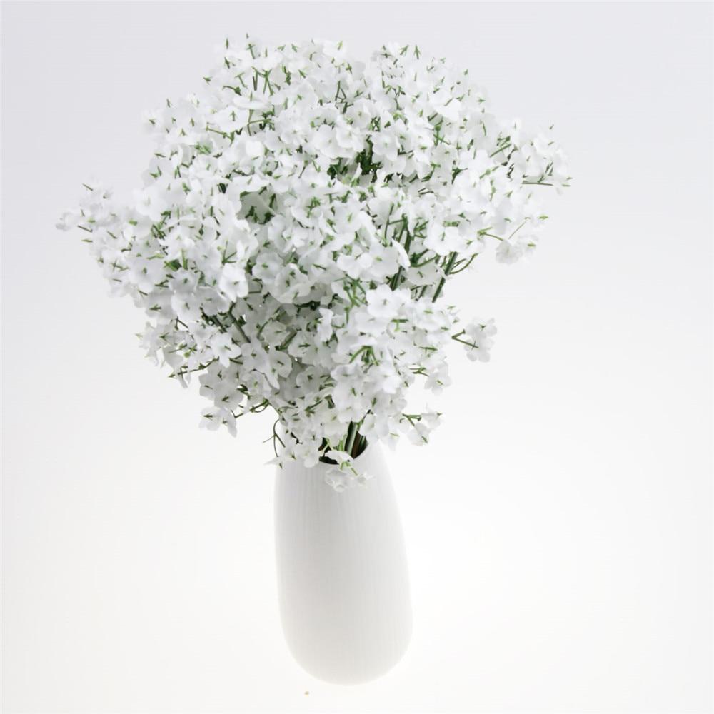 White Fake Silk Artificial Gypsophila Flowers Bouquet Wedding Party