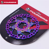 FOURIERS BR DSK001 MTB Bike Disc Brake Rotor 6 Bolt 140 160 180mm Ti coating