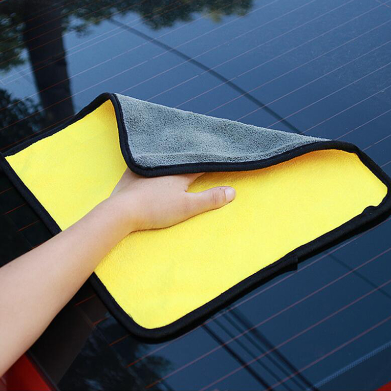 Detailing Wash Washing-Towel Car Microfiber Car-Care Drying-Cloth Hemming Thick 30--30cm