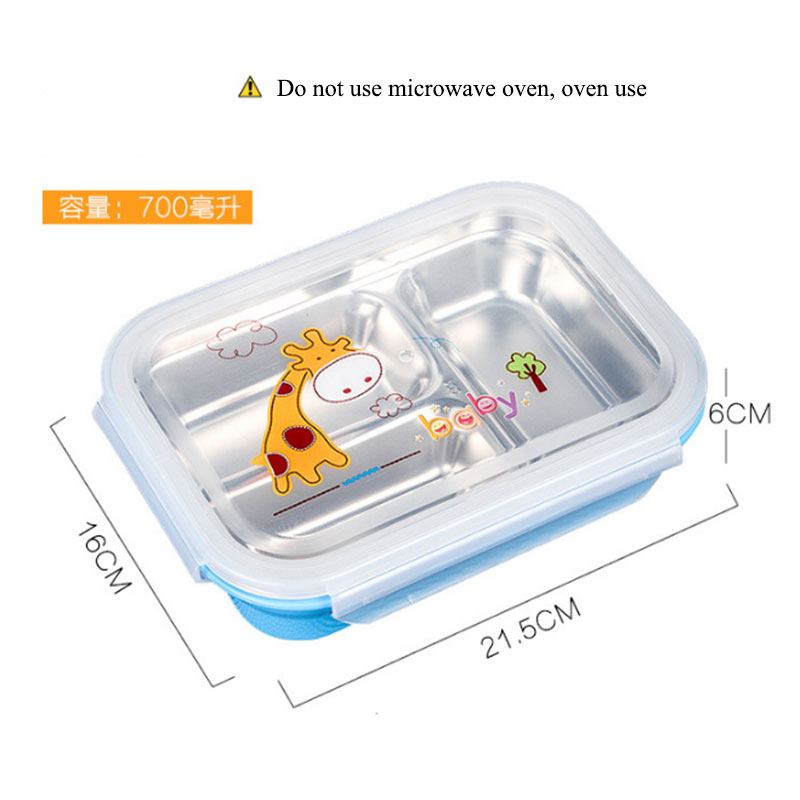 Portable 2 3 Grids Cute Mini Anese Bento Lunch Boxs With Compartments Microwave Thermal Kids Picnic Food Container In Bo From Home