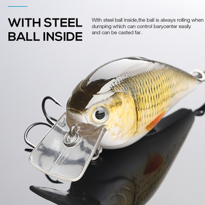 Image 4 - 7cm 15g Top Quality Swimbait Crankbait Fishing Lure Hard Bait with 3D Eyes Japan Floating Popper Fishing Wobblers Croatian Egg