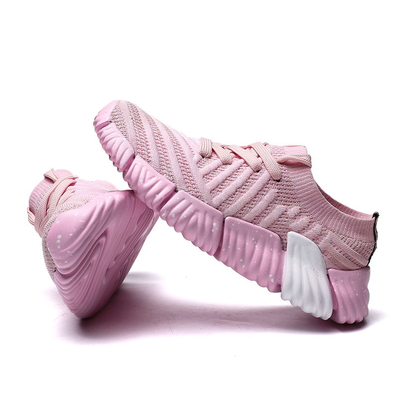 LAISUMK Fashion 2019 Casual Shoes Woman Summer Comfortable Breathable Mesh Flats Female Platform Sneakers Women Chaussure Femme in Women 39 s Flats from Shoes