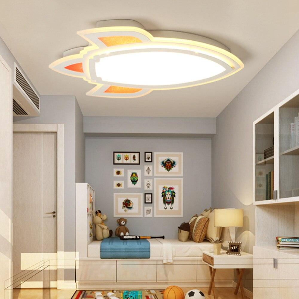 Ceiling Lights Ceiling Lights & Fans Yooe Modern Ceiling Lamps For Children Room Bedroom Studyroom Deco Surface Mount Flush Panel Remote Control Led Ceiling Lights