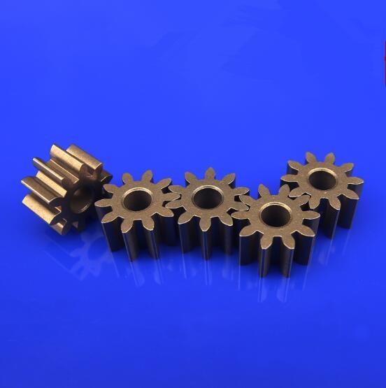 10pcs/lot Metal Gears Iron Gear 0.5 Module 9/10 Teeth Pore Size 2.3mm Vehicle Transmission Gear