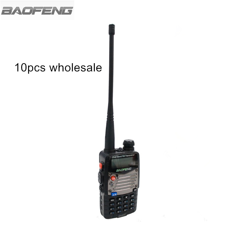 10 pz BaoFeng UV-5RA + Plus Two Way Radio Metallo Nero Ham Amateur Walkie Talkie Dual Band VHF UHF 128 radio