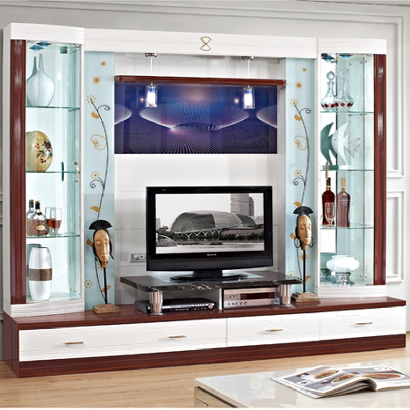 Small tv cabinet brief wall easy tv cabinet wine cooler glass ...