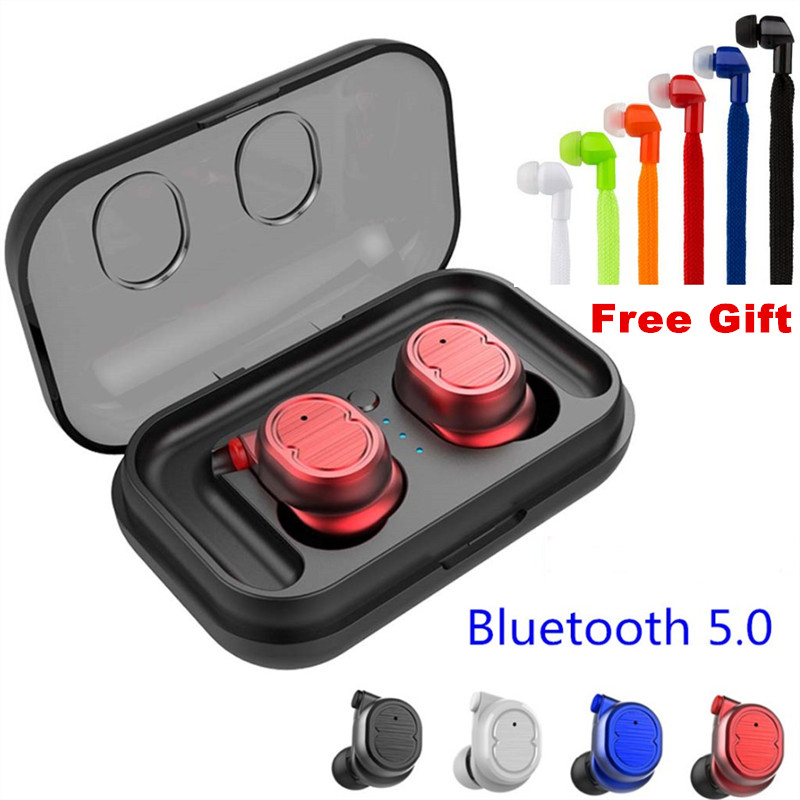 E-XY Bluetooth 5.0 Earphones Earbuds Sports Stereo Music Headset Wireless Headphone Handsfree For iPhone Xiaomi Samsung