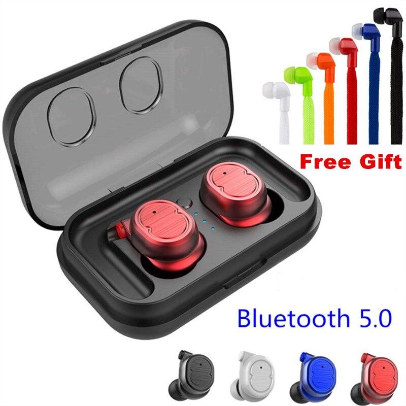 E-XY Bluetooth 5.0 Earphones Earbuds Sports Stereo Music Headset Wireless Headphone Handsfree For iPhone Xiaomi Samsung