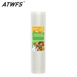 ATWFS 28CM x 500CM rolki próżniowe torby na żywność ciepła uszczelniacz próżniowy przechowywania żywności torby do przechowywania Vacum Bag|Próżniowe przechowywanie żywności|AGD -