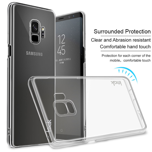 timeless design 655e7 e3a4e US $4.99 |Imak Case full Cover for Samsung Galaxy S9 Clear Hard Plastic  Crystal Pro Surround Case for Samsung Galaxy S9 Case Cover 5.8inch-in  Fitted ...