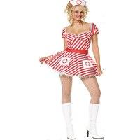 ホワイトナース制服誘惑ロールプレイベビードール女性エロ衣装で低カップ短い古典的なナースドレスw1301