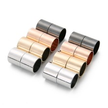 5pcs Gold Rhodium Color Strong Magnetic Clasps Fit 6mm 8mm 10mm 12mm Leather Cord Bracelets Clasp Connectors for Jewelry Making