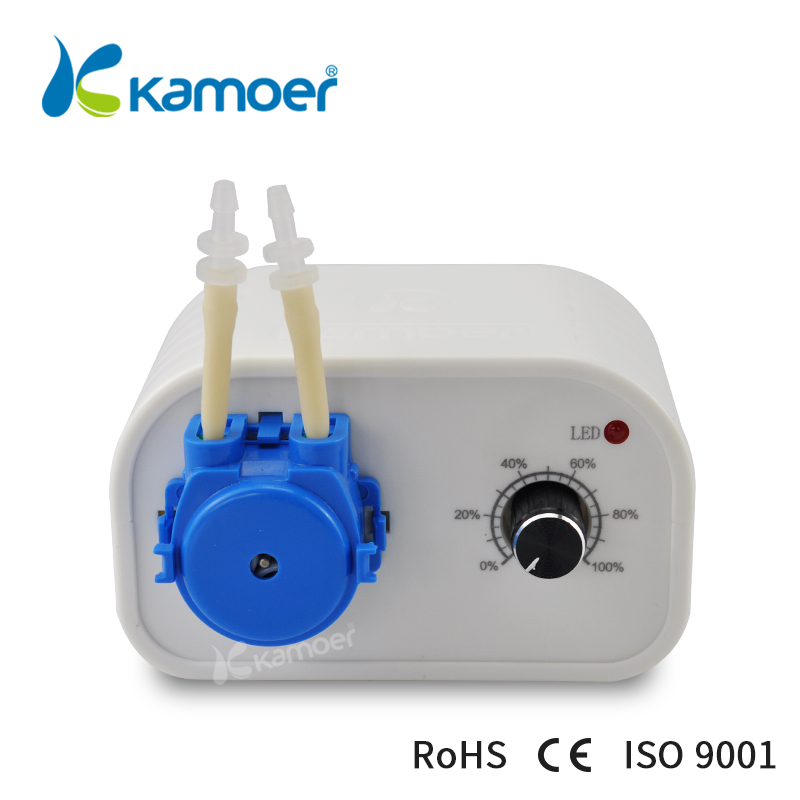 Kamoer DC 24V Bluetooth Mini K peristaltic pump used in Home potting automatic watering with silicone tube and power adapter kamoer khs high precision dc motor peristaltic pump with norprene tube for garden watering and sweeping robots