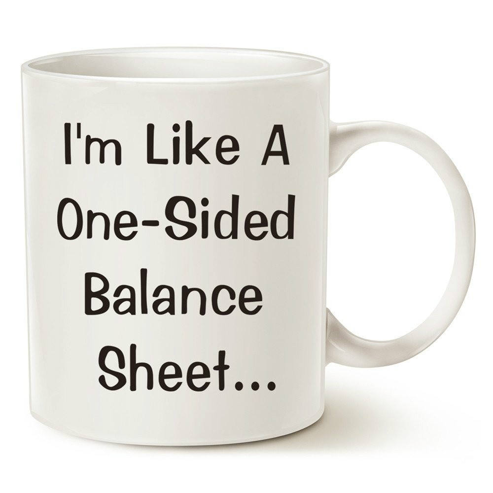 Funny Accountant Pick Up Line Coffee Mugs I'm Like A One-Sided Balance Sheet Best Gifts for Boss image