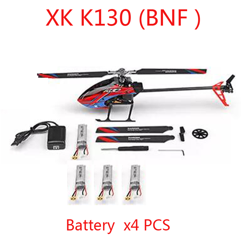 (En Stock) Original XK K130 BNF Version 6CH hélicoptère RC sans balai (sans émetteur) Compatible avec FUTABA S-FHSS