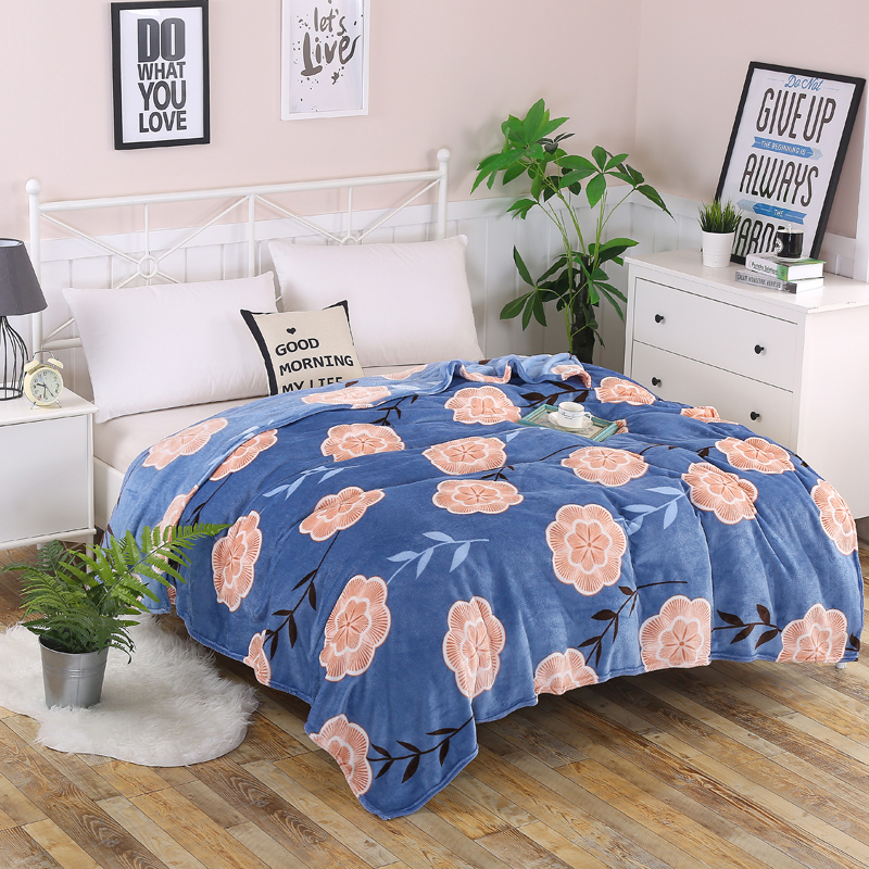 Blanket 200x230cm high density super soft flannel mattress sofa / bed sheet / portable bed cover / travel / shawl / camp