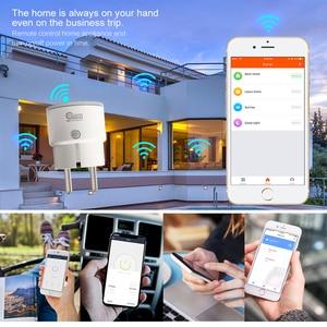 Image 3 - Coolcam 10 unids/lote WIFI enchufe inteligente EU enchufe temporizador inteligente salida inalámbrica función de control enchufe para automatización inteligente del hogar