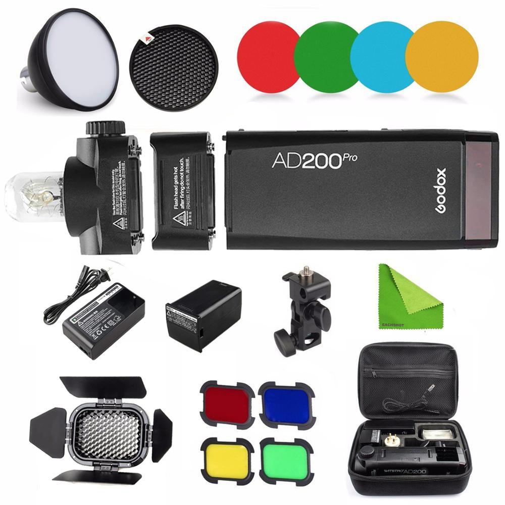 Godox AD200 Pro AD200Pro 200Ws 2.4G Flash Strobe 2900mAh Battery Bare Bulb Speedlite Fresnel Head For DSLR Camera Speedlight