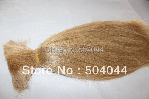 100%  human remy Hair bulk hair Extension #27 1KG  available  length 16 18 20 22 24 26 28 30 32 ALL COLORS