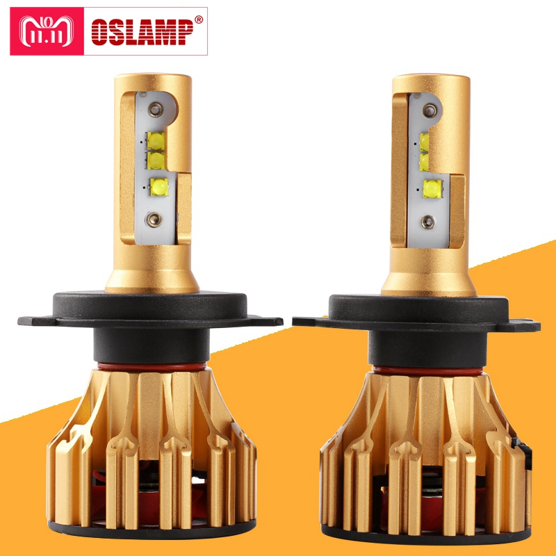 Oslamp T6 Serie H4 H7 H11 9005 9006 LED Car Headlight Bulbs 6500K 70W/Pair Hi-Lo Single Beam Automobile Headlamp Led lamp 12V 1 pair dc 9 36v h4 cob 80w led car headlight kit hi lo beam bulbs 6000k