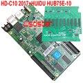HD C10 HD-C10 + HUB75E-10 Асинхронного полноцветный СВЕТОДИОДНЫЙ контроль карта USB + Ethernet Порт 1/32 сканирования HUB75E 10 * HUB75E 2 шт./лот